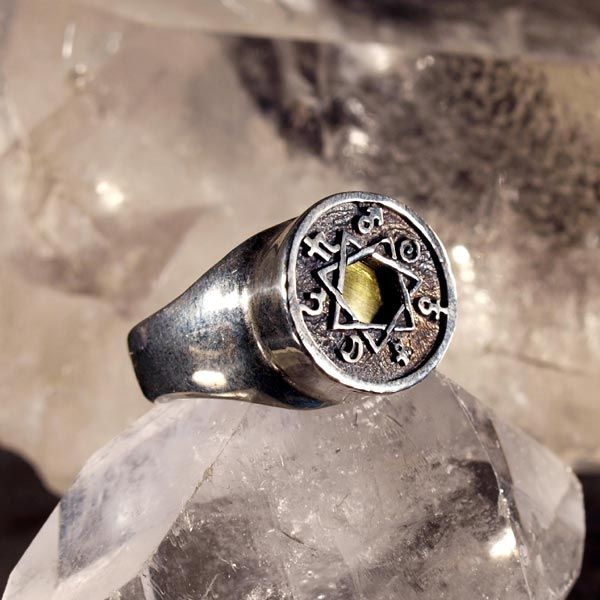 7 metals astrology ring Contains the Chaldean order stars