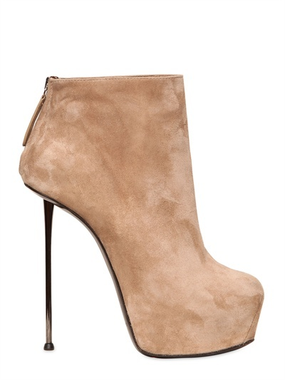 another pair of gianmarco lorenzis - a pair of suede boots with chrome spike heel #shoeporn