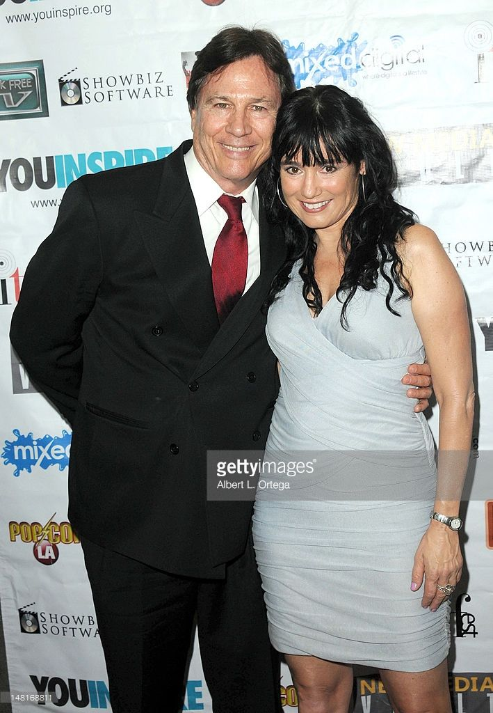 Actor Richard Hatch and actress Jill Schoelen arrive for the 2012 ITVfest International Television Festival held at Los Angeles Convention Center on July 8, 2012 in Los Angeles, California.