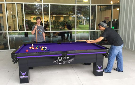 Custom Wrapped Outdoor Pool table by All Weather Billiards and Games