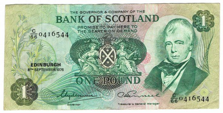 Scotland, 1 Pound, 1976