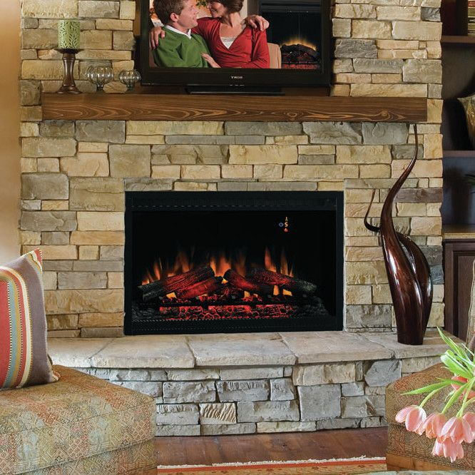 Features:  -4,400 BTU heater provides supplemental zone heating for up to 400 square feet.  -Flame effect can be operated with or without heat, providing the ambiance of a gentle rolling fire all year