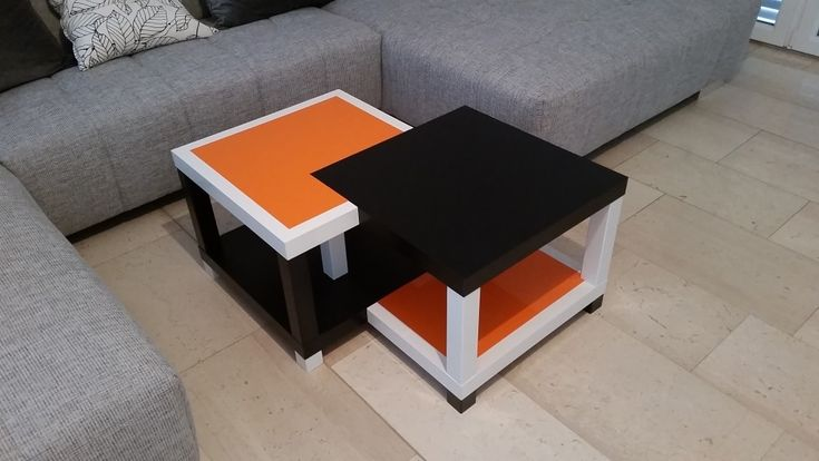 This is the logical evolution of the Quad LACK coffee table. The four tables melded together!