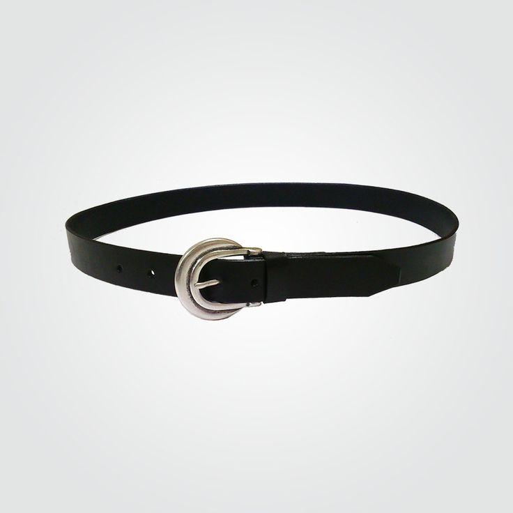 Cinturón 3 cm negro-níquel