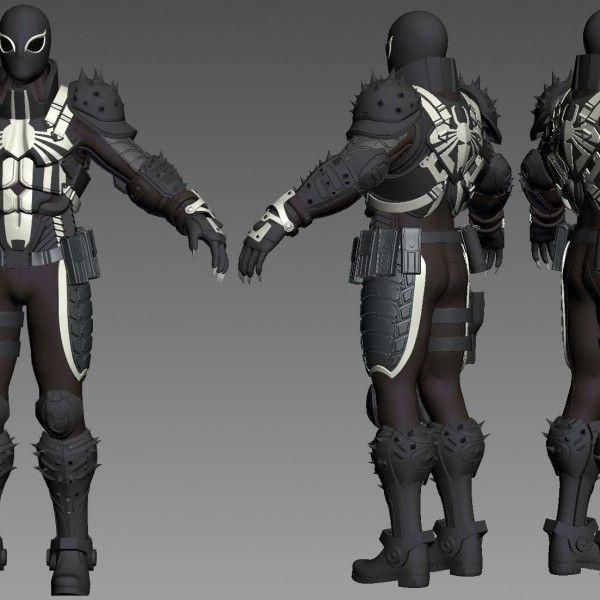 3D Printable Model Agent Venom Flash Thompson Ultimate