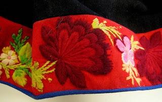 Traditional clothing: border of skirt from Dala-Floda (Sweden).