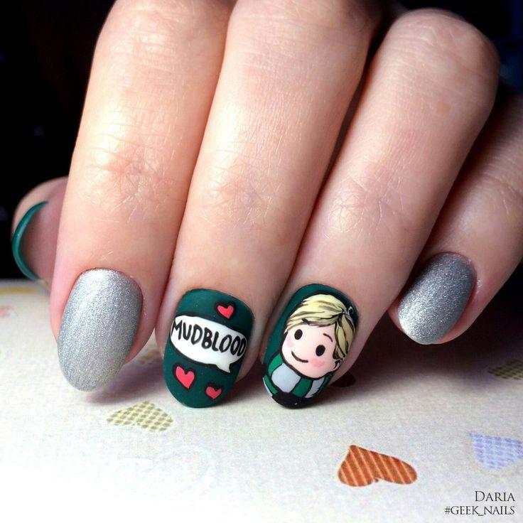 #geeknails  #шеллак #гельлак #нейларт #ногти #маникюр #дизайнногтей #nailart #naildesign #malfoy