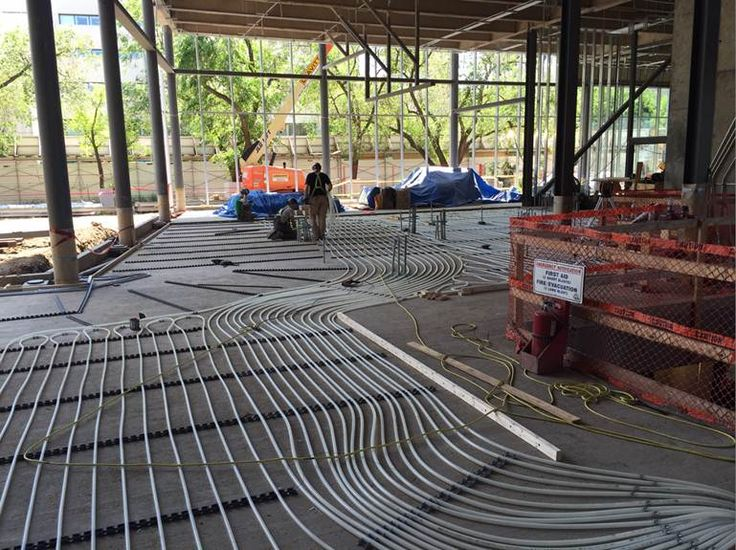 The new museum is coming along well! Radiant heating is now being installed in the café!. - June 2015 #ABCulture #MuseumOnTheMove