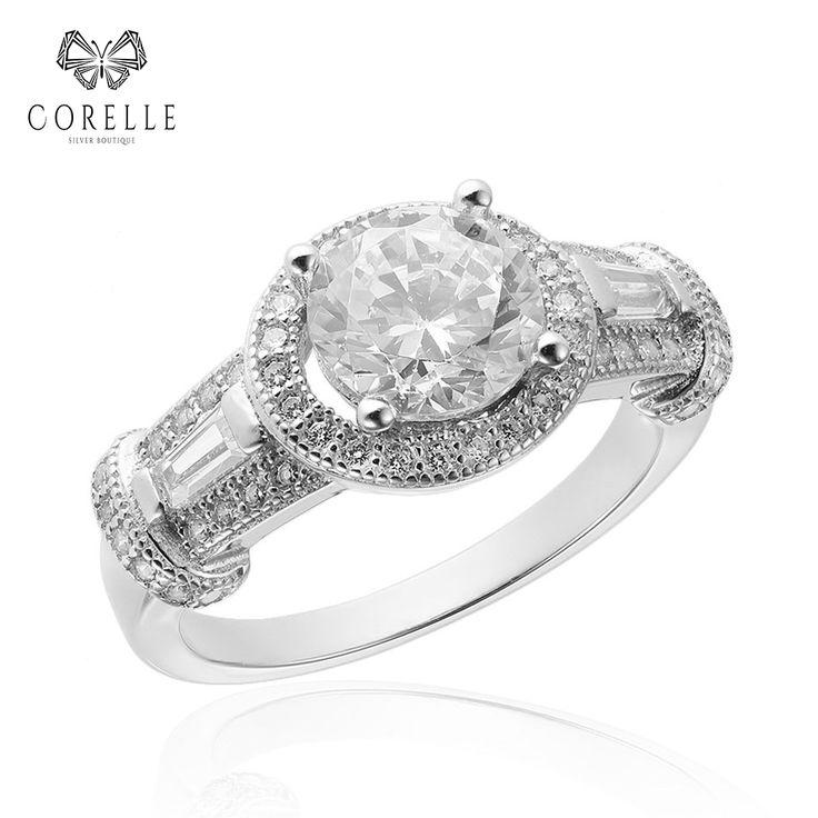 Inel din argint cu cristale. Model de inel potrivit si pentru logodna. Silver * Silver ring * Crystals rings