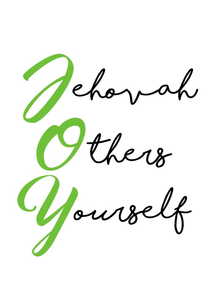 JW JOY Jehovah Others Yourself