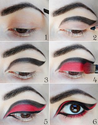 This would be awesome with all sorts of different colours - eagle eyes, gothic make up