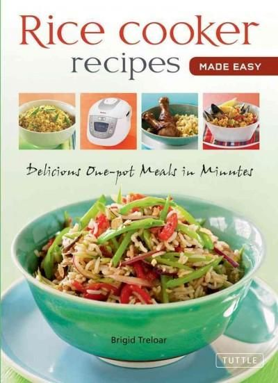 Versatile and durable, almost anything can be cooked in a rice cookerfrom soups, stews and pastas to vegetables, eggs and desserts. Rice Cooker Recipes Made Easy is a handy guide that will not only sh
