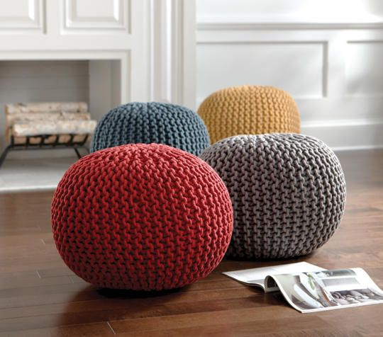 This 100% cotton braided pouf adds a pop of color and functionality to your child's room. With its handcrafted charm, this ottoman is perfect for use as an end table, foot stool or impromptu seating.