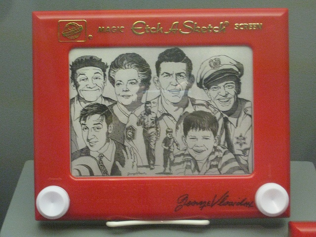 Etch A Sketch Art---etch a sketch and Mayberry--Love both of these!!