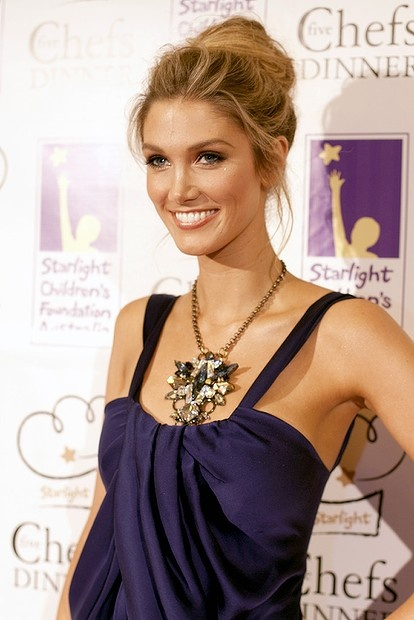 Delta Goodrem at the Starlight Five Chefs dinner at the Four Seasons Hotel in The Rocks.