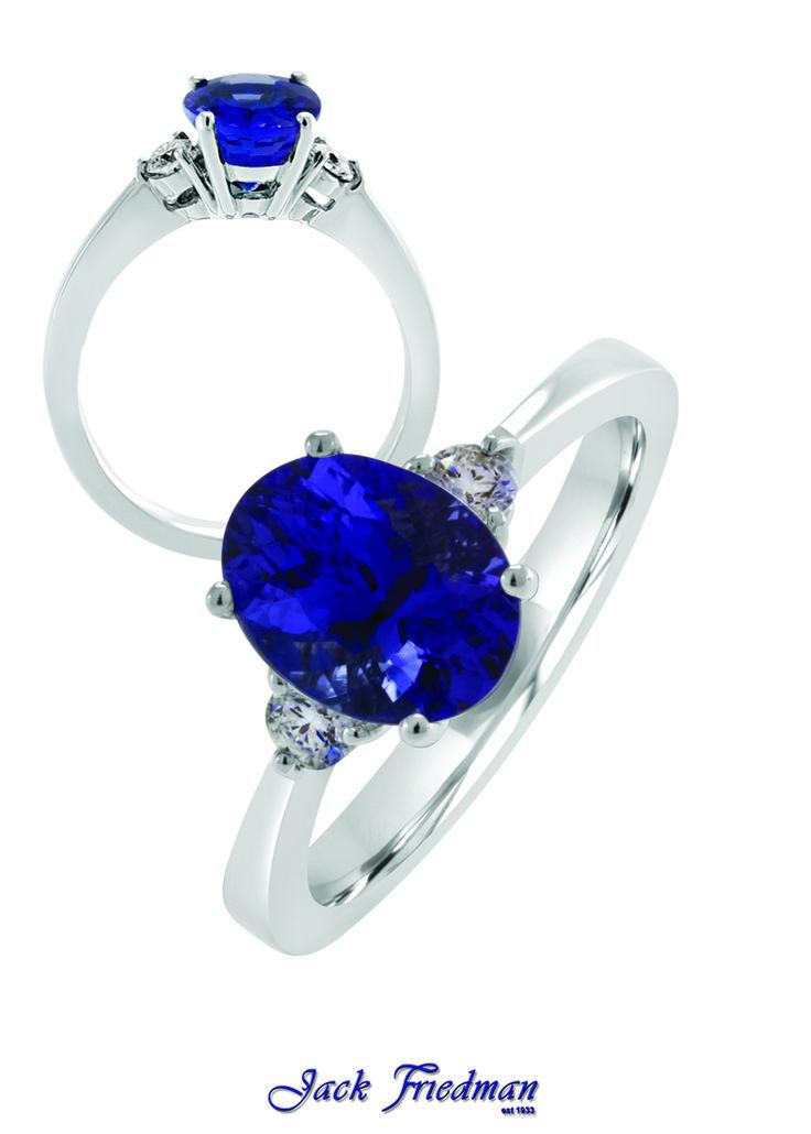 Tanzanite and diamond ring jackfriedman.co.za