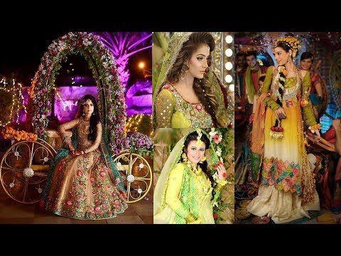 Latest Bridal Mehndi Dresses Designs Collection Mehndi Dresses Pakistani...