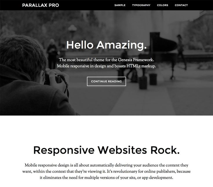 Score: 91 The new role of website design is to tell a story, which is what Parallax Pro was developed to do. Parallax keeps your page content in proper narrative order, giving you a simple vertical design for easy visual eye movement and flow. It divides your content into parts, with a ...