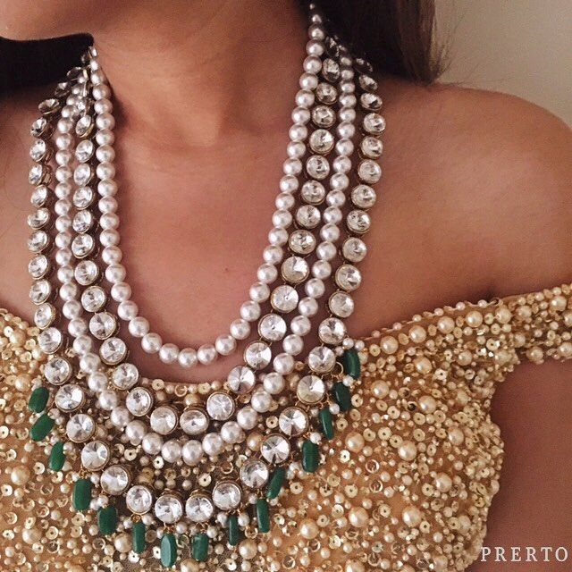 We're rocking this off-shoulder number with our #PearlAndGreenNecklace! Can't…