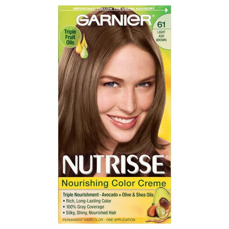 Garnier Nutrisse Nourishing Color Creme 61 Light Ash Brown