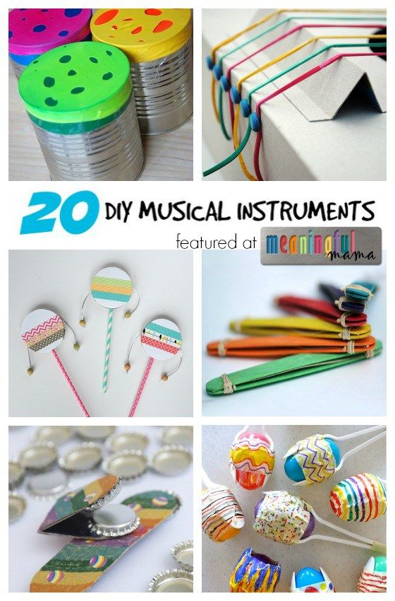DIY Musical Instruments - Homemade Fun for Kids | Kids will love making their own musical instruments for loads of enjoyment and learning.