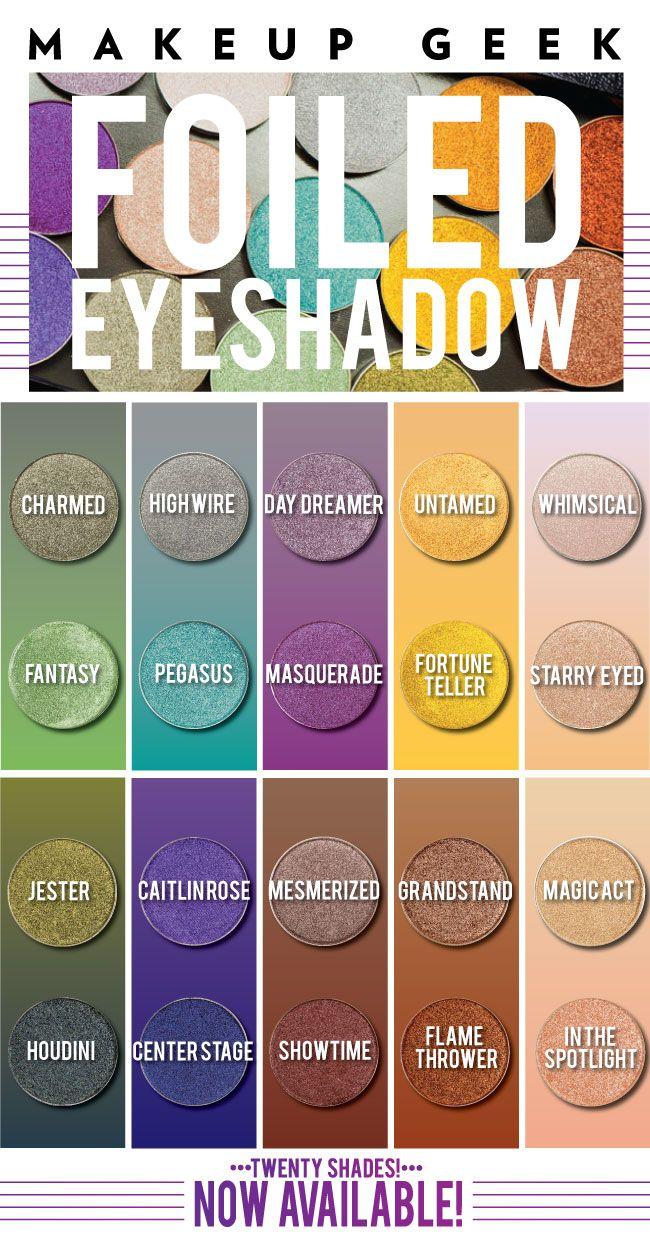 10 NEW Makeup GeekFoiled Eyeshadows!!! swoooooon...