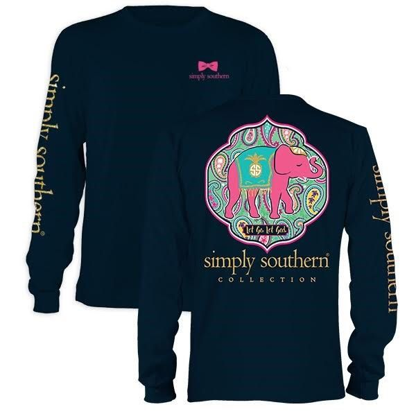 Monogrammed Simply Southern Preppy Let God Long Sleeve Shirt / Personalized Simply Southern Long Sleeve Shirt / Preppy Southern Shirt / Gift by MarshmallowDream on Etsy https://www.etsy.com/listing/468234921/monogrammed-simply-southern-preppy-let
