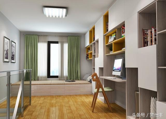 10㎡房間的多功能設計:榻榻米+櫃+書桌,非常實用 - 每日頭條