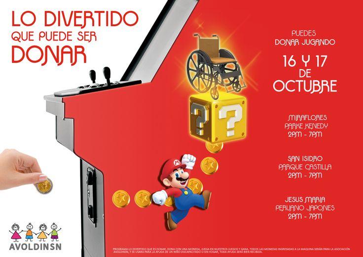 """Print y activación """"Colecta anual"""" (Holmes Dominguez, Edgardo Paredes, Fabian Pinto, Andrea Aguilar)"""