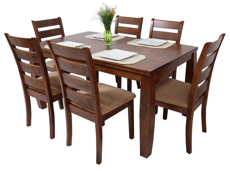 Amuebla tu hogar solo con lo mejor que trae Commodity en Juegos de comedor, para 6 personas, modelo HORACIO, mesa rectangular de madera, sillas de madera, estilo contemporáneo.
