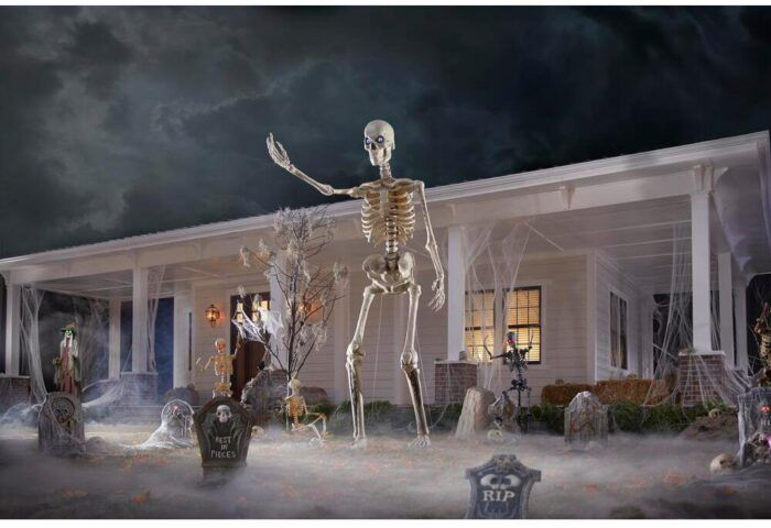 Home Depot Is Selling A 12 Foot Skeleton With Animated Eyes For Your Yard In 2020 Home Depot Halloween Fun Halloween Decor Foot Skeleton