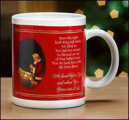 Adoring Santa Christmas Mug