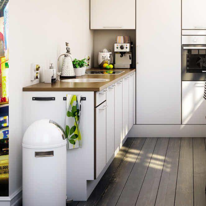 Kjøkken med fleksible og funksjonelle detaljer