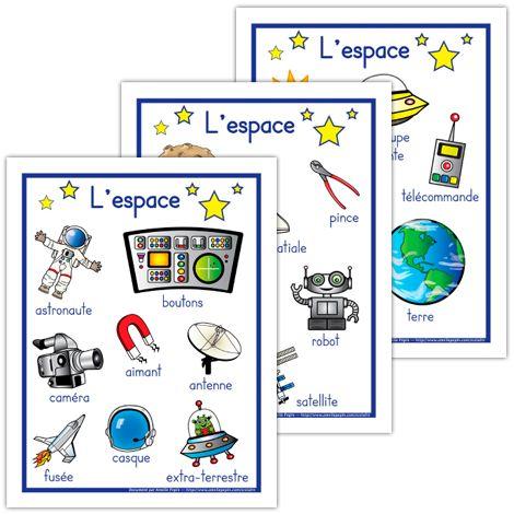 Affiches sur le thème de l'espace