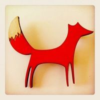 Hand-painted Skinny Fox #brouch via IdeasMarket