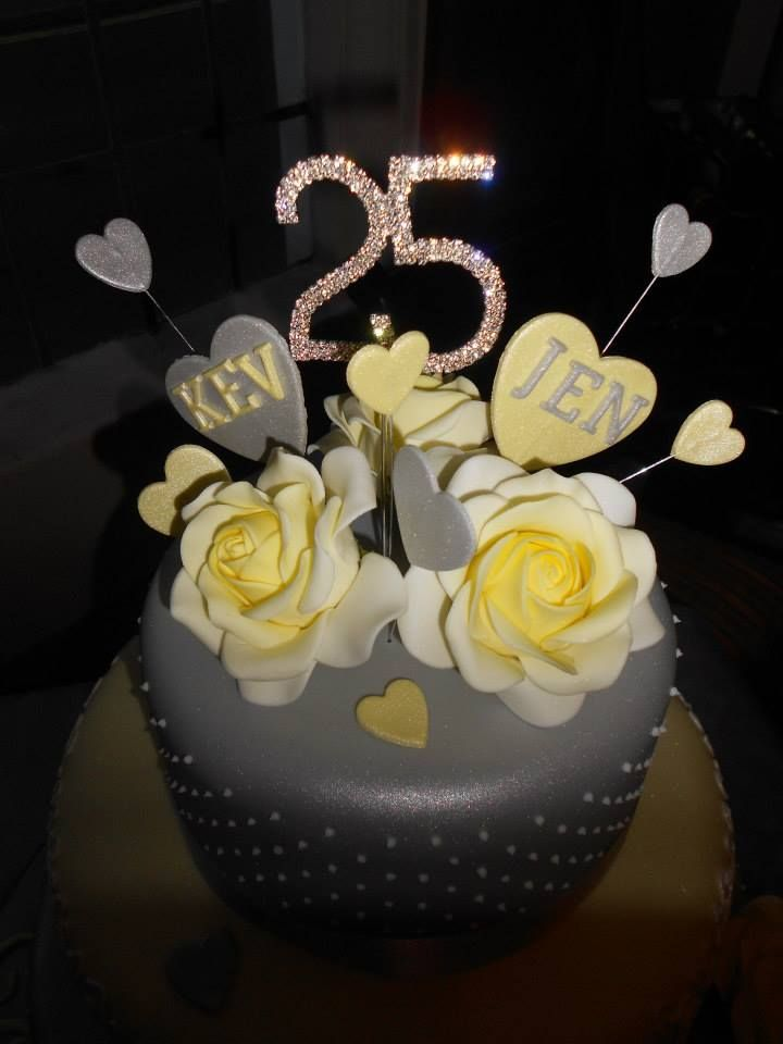 31 best Silver Wedding Cake Anniversary Cake Ideas images on