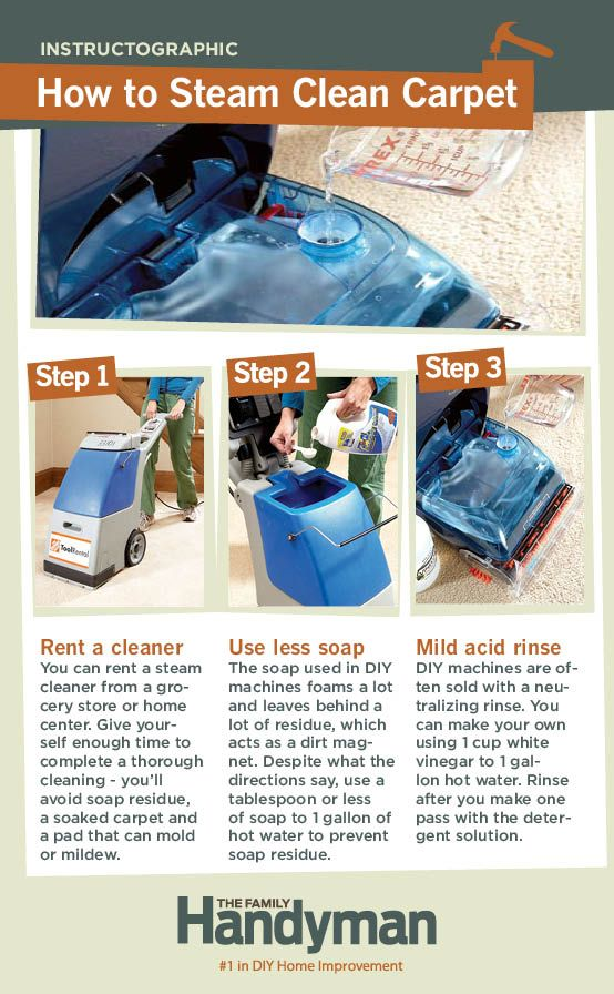 DIY Tutorial: How to Steam Clean Carpet. You can save a ton of money with a DIY carpet cleaning.