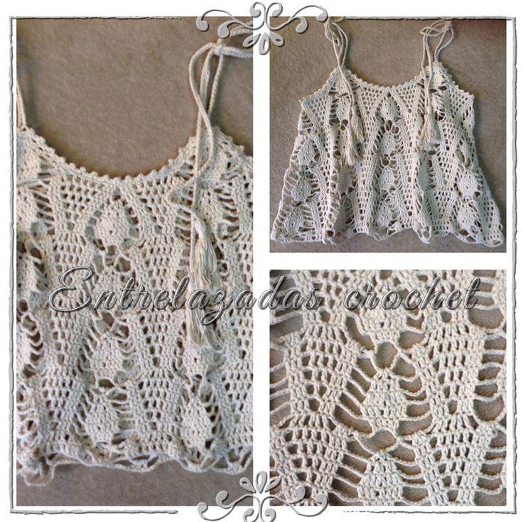 Musculosa de algodón crochet