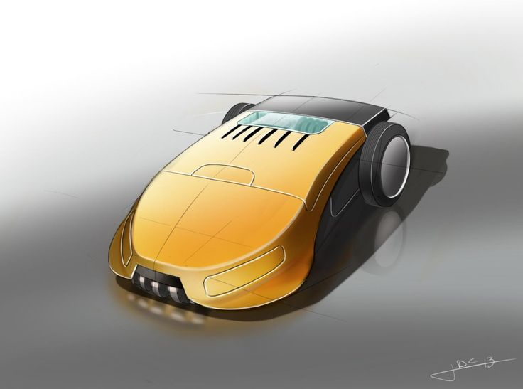 Sketchbook Pro & Wacom tablet - Oefening grasmaaier. Sketch: Jonathan De Clercq