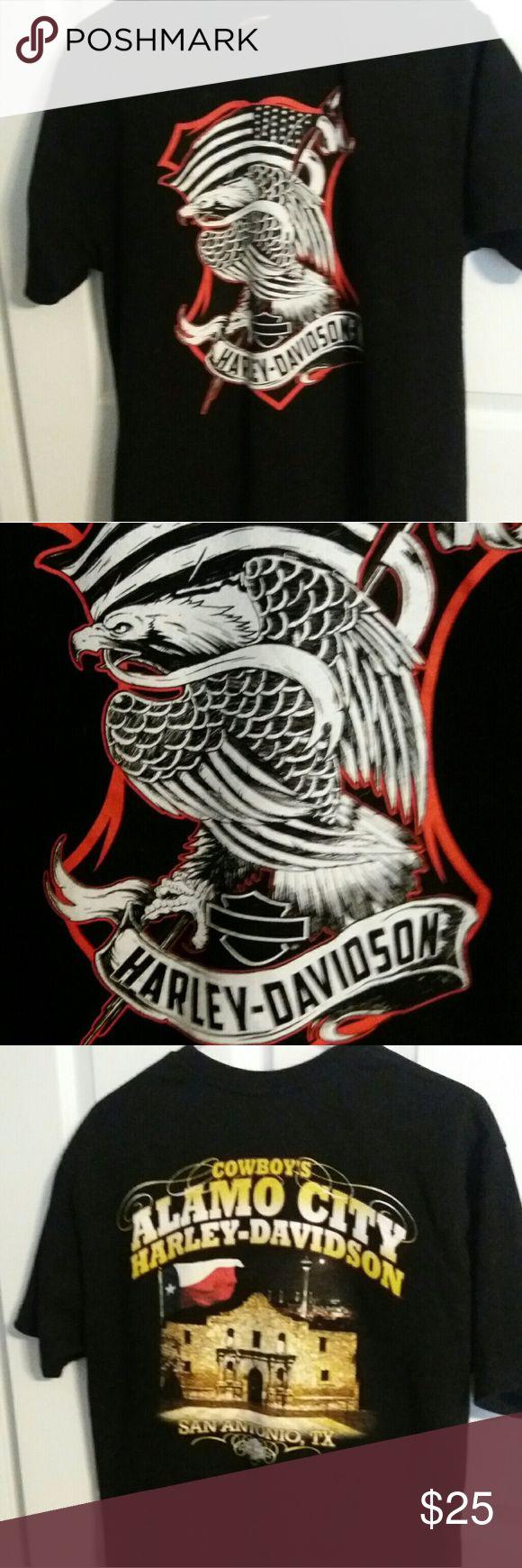 HARLEY DAVIDSON MEN'S T-SHIRT Size Large Black, Alamo City San Antonio, Texas, Good condition,  Size Large Harley-Davidson Shirts Tees - Short Sleeve