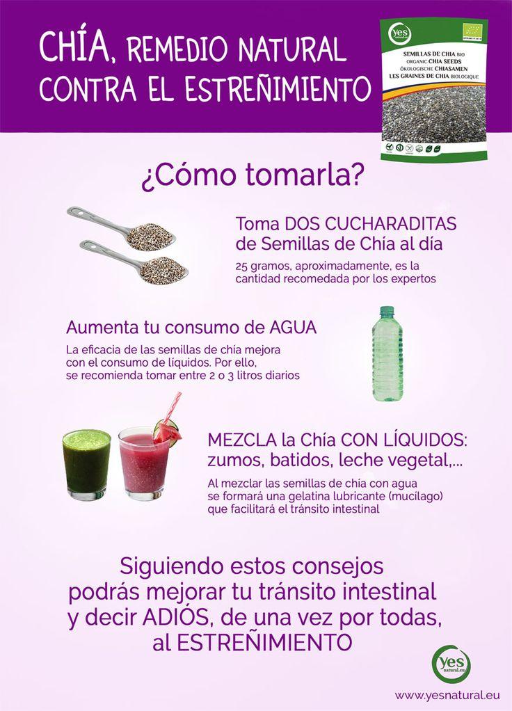 #semillasdechía, remedio natural contra el #estreñimiento. #superalimentos #chia