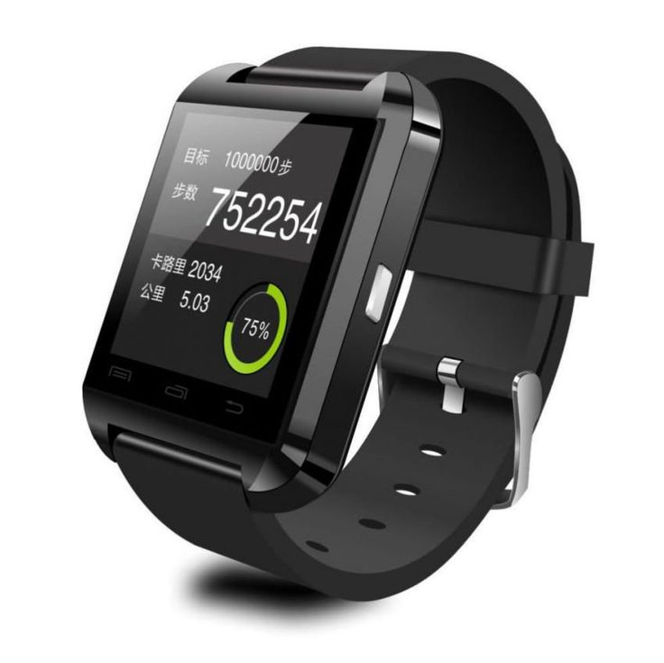 """SmartWatch developed U Watch U8 is present to facilitate the connection between you and the people around you. U Watch U8 is designed with a revolutionary design to be associated with a smartphone operating system Android. Has a screen of 1:48 """"with the type of iPod Nano touch screen. http://www.zocko.com/z/JJNVK"""