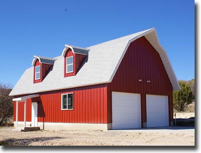 26 best pole barn designs images on pinterest gambrel for Barn kits with apartments