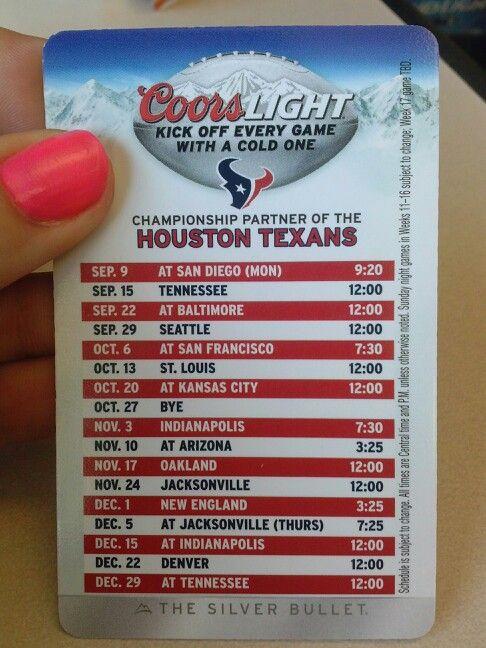 Texans football schedule 2013-2014 #football #texas