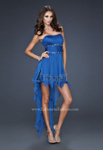$298 - Coral, Hot Pink, Jungle Green, Lavender, Sapphire Blue, Teal. High  Low DressesShort Prom DressesBlue DressesStrapless ...