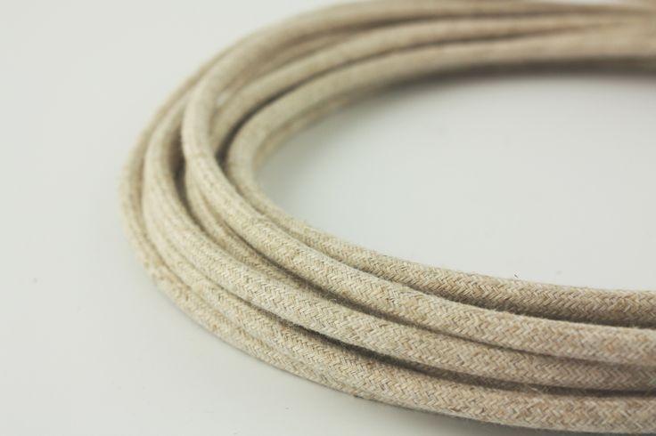 round canvas power cord
