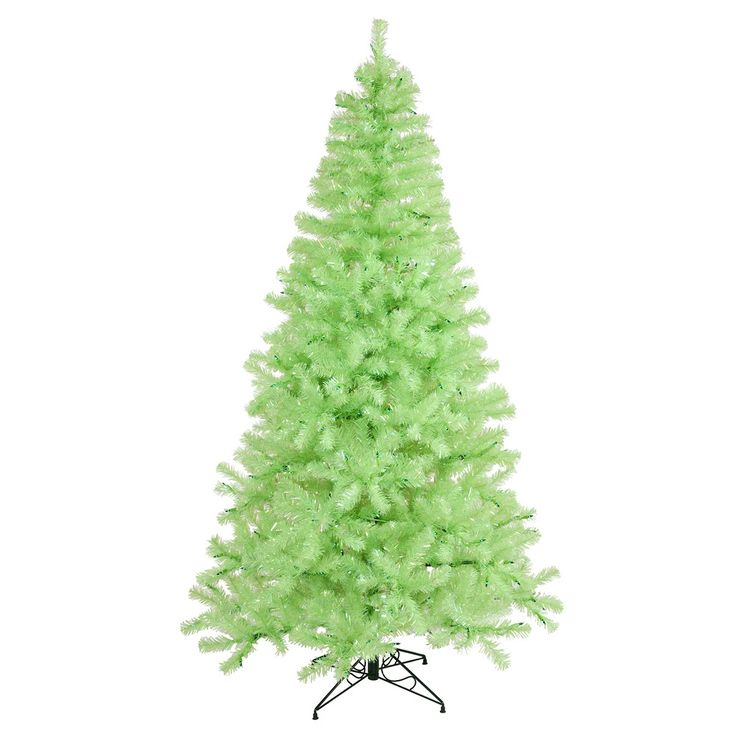 vickerman 8ft chartreuse tips christmas tree 600 green mini lights - Christmas Trees Clearance