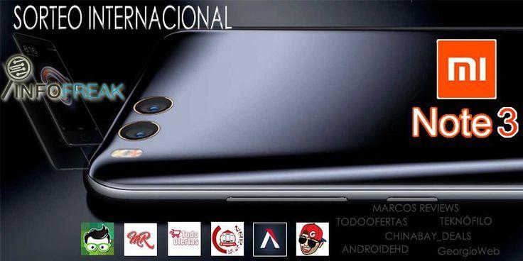 SORTEO MUNDIAL Xiaomi Mi Note 3 + 6 Premios | 7 GANADORES
