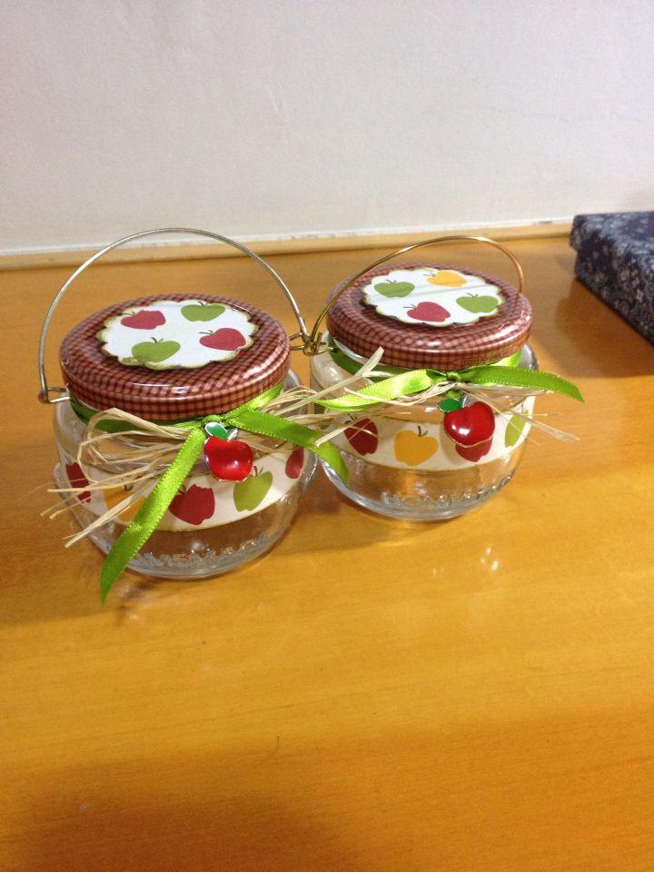 Vidros decorados maçãs