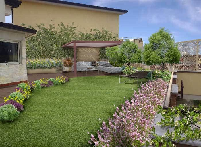 70 migliori immagini progetti di giardini e terrazzi by - Giardino su terrazzo ...